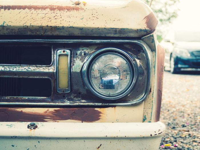 Close-up of rusty car