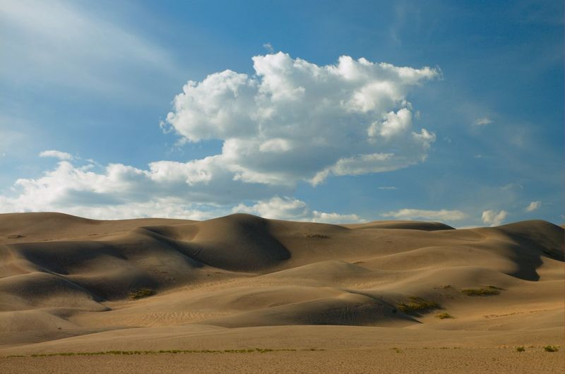 Sand dunes against sky at great sand dunes national park