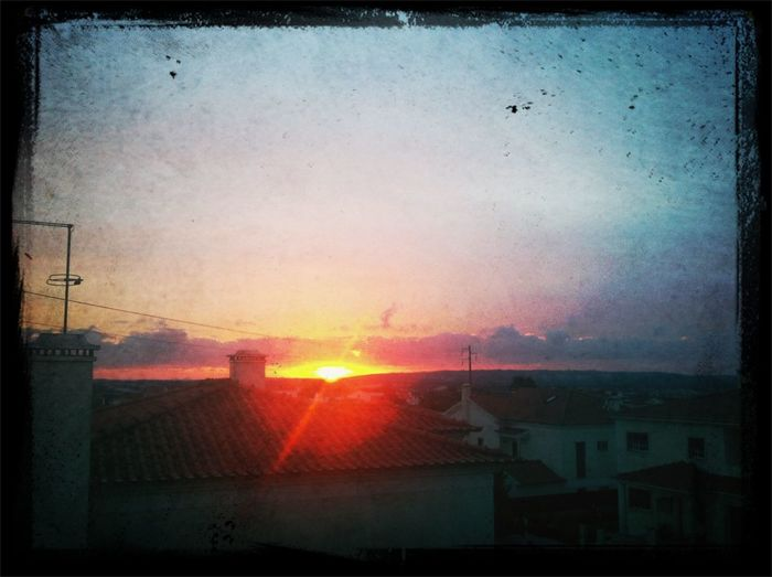sunset at home