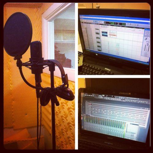 At The Studio Puttin In Some Work...!! #M80OnDaBeatz My Home Studio Studio Flex..!