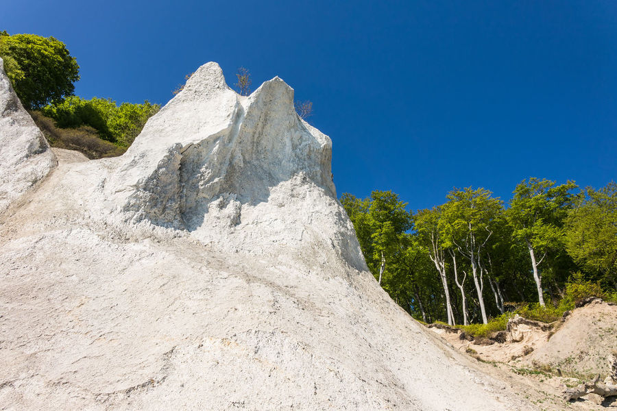 Baltic Sea coast on the island Ruegen, Germany. Baltic Sea Beauty In Nature Chalk Cliffs Clear Sky Coast Day Forest Holiday Landscape Nature No People Outdoors Ruegen Island Scenics Shore Sky Tourism Tranquility Travel Destinations Trees Vacation White Cliffs