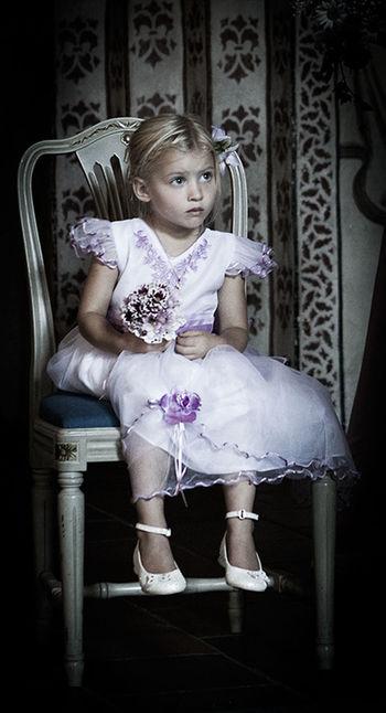Girl at the wedding Girl Wedding Kid Child