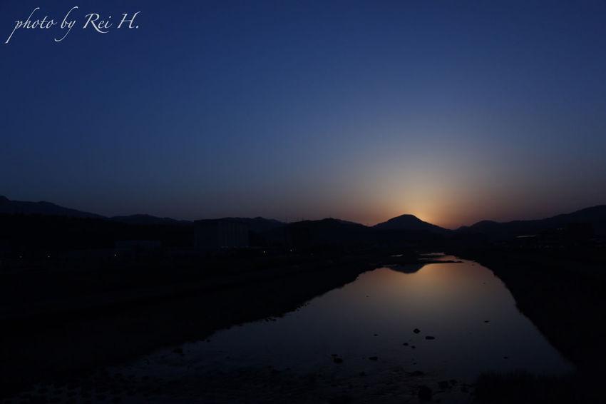 「 TOMORROW 」 マジックアワー 夕景 風景 広角 Magichour Eveningview Landscape Scenery Canon