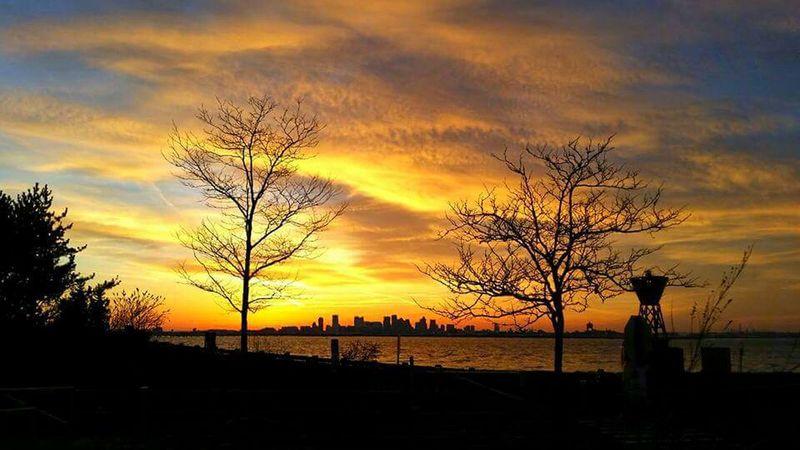Deer Island Sunset Boston, Massachusetts Sunset_captures No People Urban Skyline Cityscape Illuminated Sunset Night Building Exterior Architecture