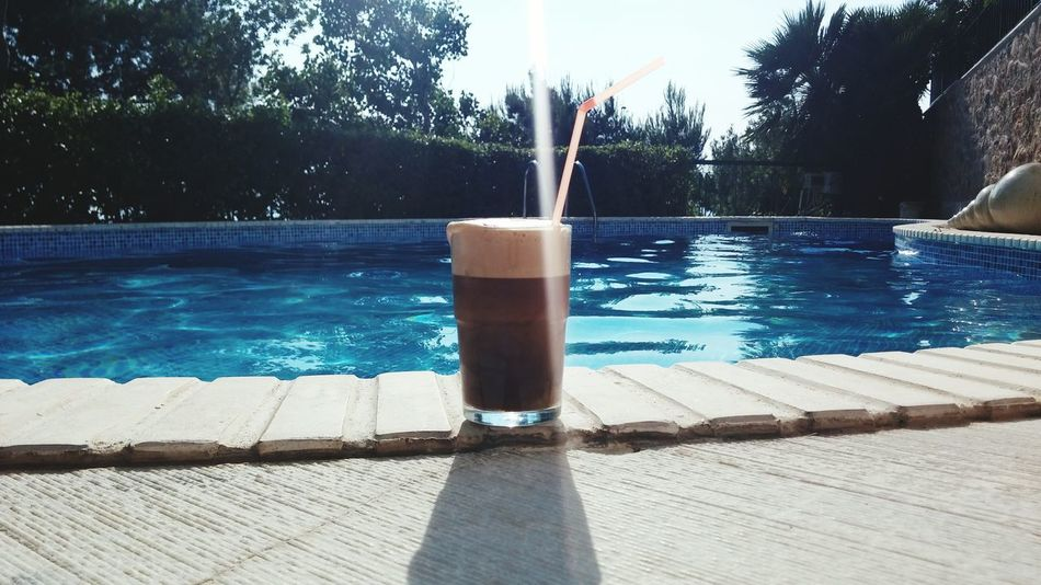 Frappe Greece Swimming Pool Relaxing