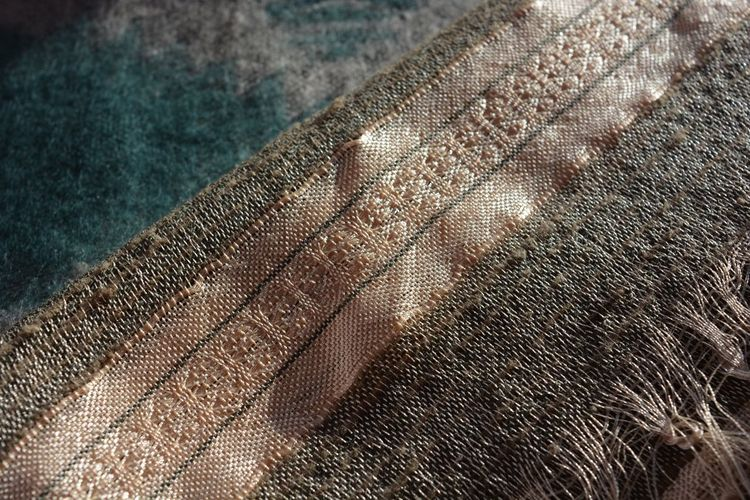 Silk and linen scarf, on top,of a wool scarf. Selective focus. Textured  Textile No People Close-up Fabric Full Frame Backgrounds Indoors  Day Silk Silky Linen Linens And Textiles Textures And Patterns Textile Fabrics Textile Textures Cloth Detail Nobody Fabric Texture Fabric Detail Weave Pattern Selective Focus Textures And Colors Texture