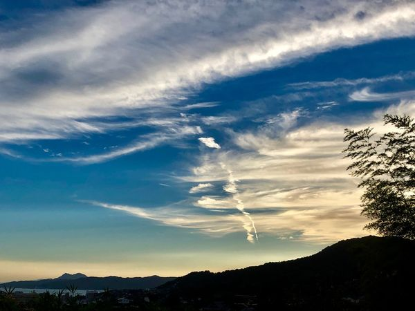 A Beautiful Landscape. (180826-181004) Cloud - Sky Sky Tree Beauty In Nature Scenics - Nature Tranquility Tranquil Scene Nature Environment Landscape Non-urban Scene Plant Growth Sunset Sunlight Silhouette Idyllic Outdoors No People Low Angle View