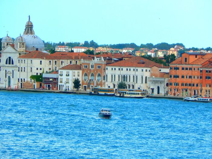 Building Exterior Travel Destinations Architecture Blue Renaissance Old Town Built Structure Cityscape Water Outdoors City Sky Vacations Business Finance And Industry Nautical Vessel No People Day Gondola - Traditional Boat Venice, Italy Travel Cityscape Sea City Architecture