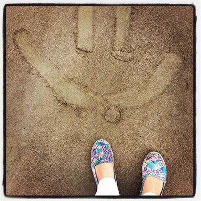 These happy feet went to the beach today. :) Happyfeet Sands Beach Home happy smile