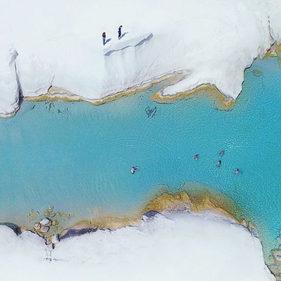 Nature Beauty In Nature From Above  Drone  Milos Island Sarakiniko Aerial View