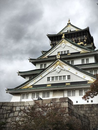 Osaka Castle OSAKA Japan Osaka Castle Architecture Built Structure Building Exterior Sky Cloud - Sky Low Angle View Building Nature No People Outdoors Travel Destinations History