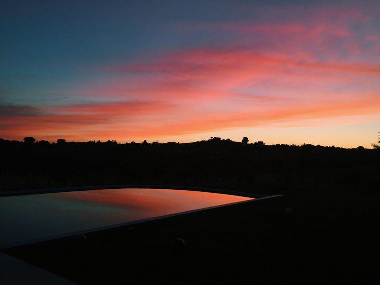 Orange Color Sunset