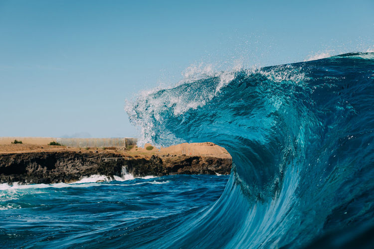 slab Sea Water Motion Wave Clear Sky Beauty In Nature Power Blue Nature Scenics - Nature Power In Nature Day Sport Outdoors No People Turquoise Colored Wave Waves Waves, Ocean, Nature Ocean Nature Surf EyeEm Best Shots EyeEmNewHere EyeEm Nature Lover