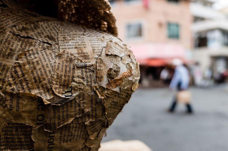 Close-Up Of Damaged Sculpture
