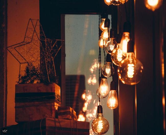 EyeEm Selects Tree Christmas Decoration Illuminated Hanging Christmas Christmas Lights Celebration Light Bulb Holiday - Event Home Interior Tea Light Fire Pit Flame