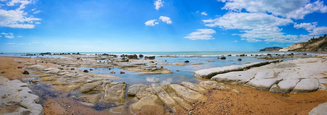 Scala Dei Turchi Agrigento Sicily Italy Travel Photography Travel Voyage Traveling Mobile Photography Fine Art Panoramic Views Scenic Landscapes Landscapes With WhiteWall Blue Wave Nature Shorelines Cliffs Rocks Sea Reflections Sky Clouds Mobile Editing Showcase April