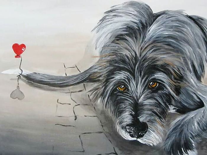 One Animal Animal Themes Dogs Of Winter Dog Of The Day Dogs Of EyeEm Irish Wolfhound Hearthound Asgard Painting Acrylic Painting My Art My Art, My Soul... ArtWork