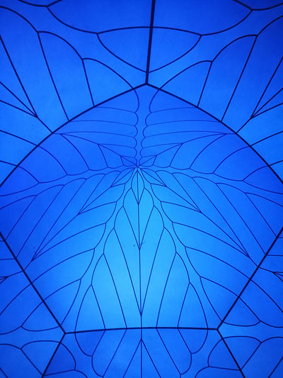 Abstract Architecture Art And Craft Backgrounds Blue Built Structure Ceiling Close-up Creativity Design Full Frame Geometric Shape Indoors  Low Angle View Nature No People Pattern Shape Sky