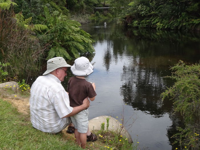 Casual Clothing Hidden Gems  Leisure Activity Lifestyles Old And Young Outdoors Tranquil Tranquil Scene Two Generations Water
