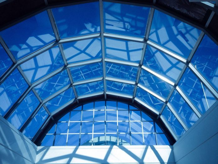 Glass Ceiling Glass ceiling Ceiling Blue Sky Growth Self Help Betterment Image Talent Promotion Money Wealth Prospect Potential  Possibilities  Showcase March Blue Wave Minimalist Architecture The City Light