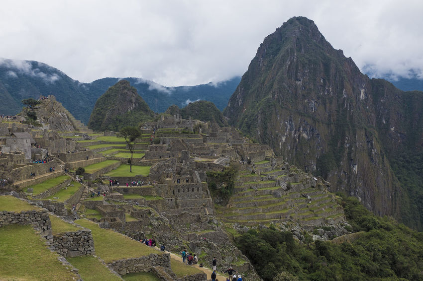 Ancient Civilization Cliff Cusco Exploring High Angle View Landscape Machu Picchu Mountain Outdoors Peru Rock Formation Rough Valley