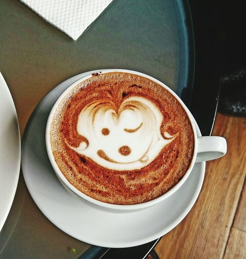 Cappuccino Latte High Angle View Frothy Drink Food And Drink Table Coffee - Drink Coffee Cup Cafe Refreshment Breakfast Close-up Ready-to-eat Drink No People Indoors  Food Coffee Art Coffee ☕