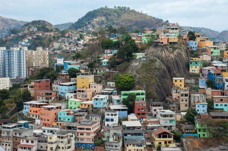 Cityscape from a slum in Vitoria Architecture Building Exterior Cityscape Community Favela High Angle View Slum Travel Destinations My Best Travel Photo