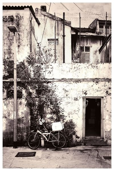 Bicycle Backalley Black And White Black And White Photography First Eyeem Photo Singapore