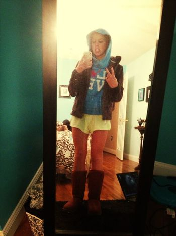 Neon Soffees And American Eagle Hoodie, Social Accepted Only At Night.....