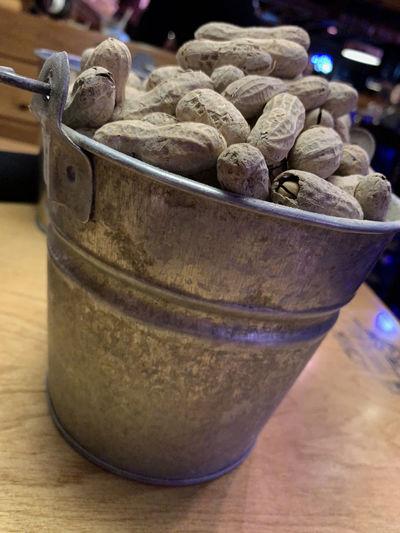 Tin bucket of