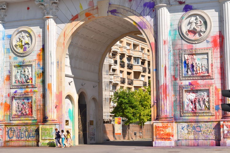 Colorful Revolution Protests In Macedonia Photojournalist - 2016 EyeEm Awards The Photojournalist – 2016 EyeEm Awards Coloring Monuments Showcase: June Resist The Photojournalist - 2017 EyeEm Awards