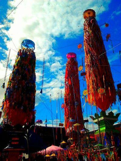 Temple Festival Tradition in Haripunchai Lamphun Thialand