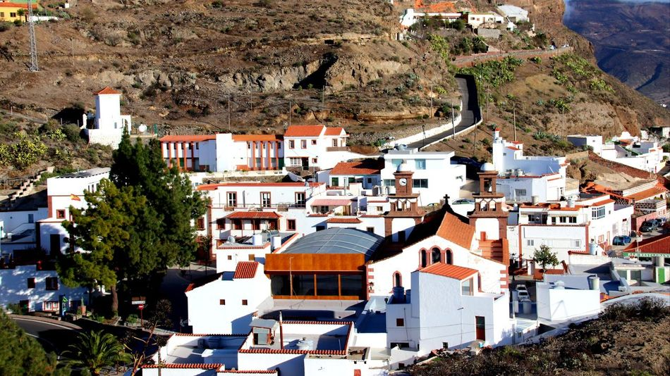 Artenara village Building Exterior Architecture Town Built Structure House Day High Angle View