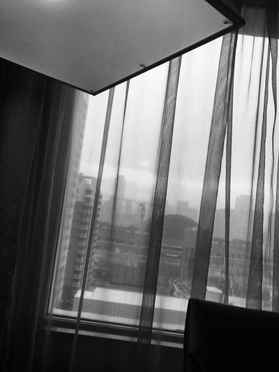 世界从不乏自怜自哀的人. 也从不缺少坚强到死都不说累的人. 每个人都有每个人的活法. 除了适当介入他人的世界之外. 我们只有自己. Black & White Curtain Window Indoors  Drapes  Home Interior Low Angle View No People Day Blinds Close-up first eyeem photo