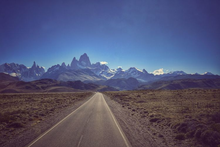 Mountain Range Scenics Landscape Outdoors No People Nature Beauty In Nature The Way Forward Lonelyplanet Patagonia Argentina Patagonia Fitzroy Cerro Torre Street Street To Nowhere Roadtrip Road To Nowhere The Great Outdoors - 2017 EyeEm Awards EyeEmNewHere