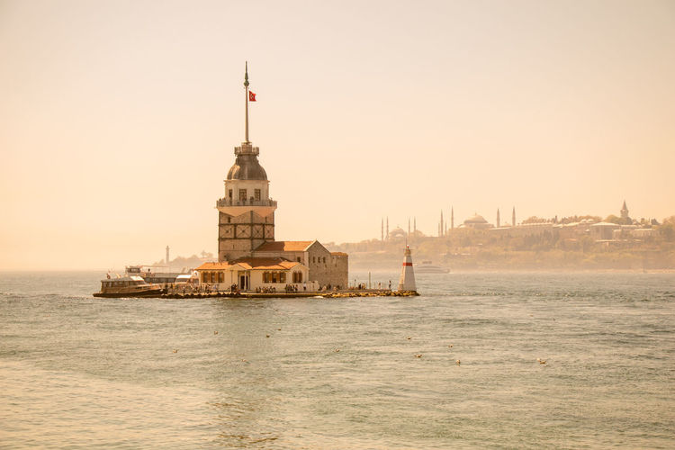 Maiden's tower against clear sky