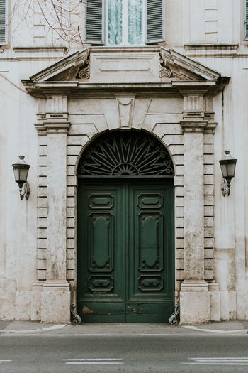 Architecture Built Structure Building Exterior Door Entrance Building Closed Arch Security Safety Protection Day City No People Façade Window Outdoors House Front Door Residential District Ornate Minimal