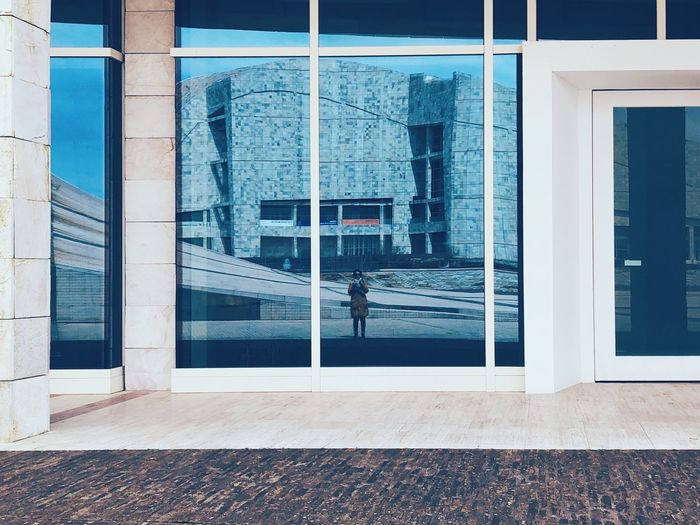 Autorretrato en Cidade da Cultura VSCO Snapseed Me Selfportrait Built Structure Building Exterior Architecture Day Building Window Entrance City Reflection Door Glass - Material Outdoors Wall - Building Feature Transparent