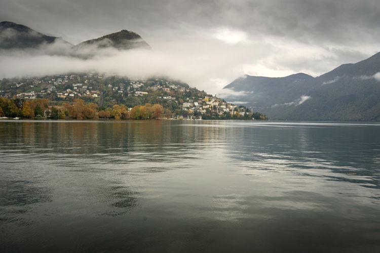 Lake lugano in canton ticino in switzerland