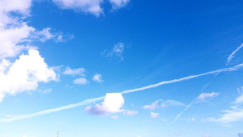 Clouds And Sky Vapor Trail Sky Only No People St.Croix, US Virgin Islands