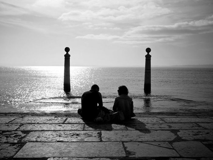 Black & White Lisbon Relaxing River Landscape Hello World Columns Street Photography