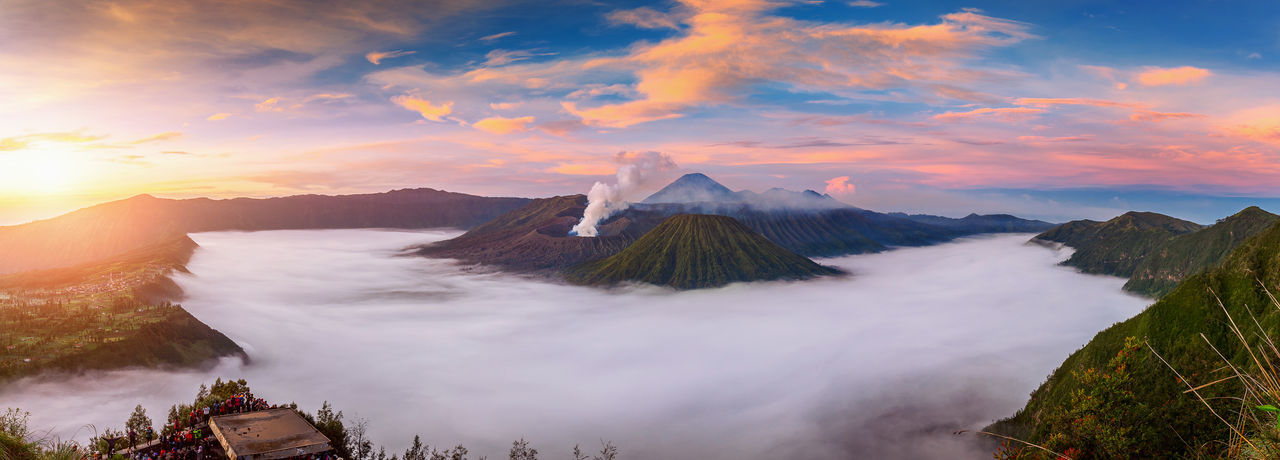 Idyllic View Of Bromo-Tengger-Semeru National Park During Sunset