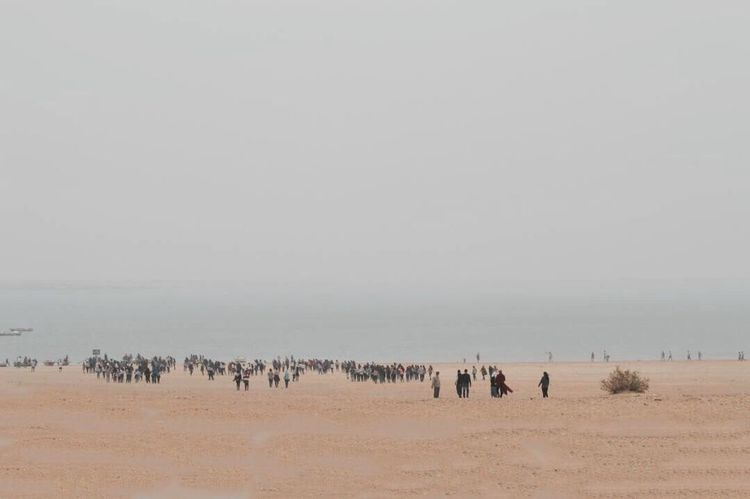 El-Fayoum Large Group Of People Trip Nature Beach Outdoors Landscape Scenics Nikon Leisure Activity Togetherness People The Way Forward Lake Tranquil Scene BYOPaper! Lost In The Landscape