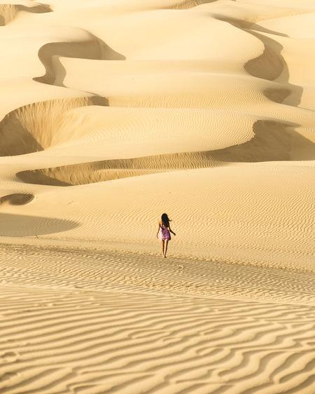 Scenics - Nature Desert Real People Sand Dune Sand Climate Land Nature Arid Climate Ice Sand Dunes Peru Peruvian Ica Laguna Moron Moron Oasis Oasis In The Desert Sunlight Landscape One Person Walking Non-urban Scene Beauty In Nature Outdoors