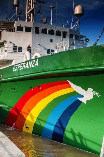 Bordeaux Greenpeace Blue Day Multi Colored Nautical Vessel No People Outdoors Sky Transportation