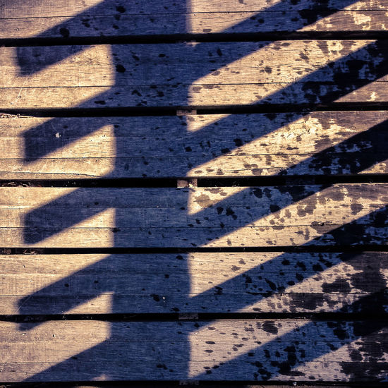 Shadows on bridge Bridge Day Focus On Shadow Pattern Plank Shadow Sunlight Wood