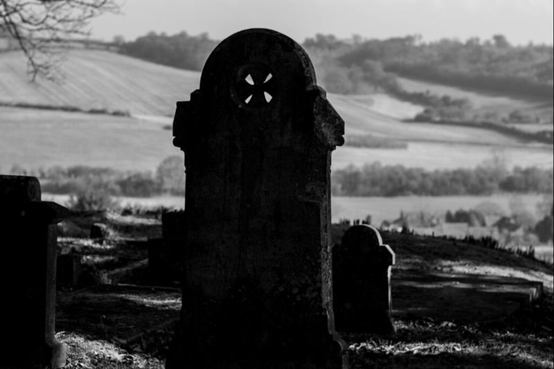 Grave view at