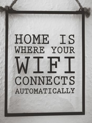 Black & White Sign Home WIFI Zone