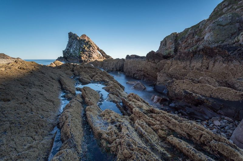 Scenic View Of Bow Fiddle Rock