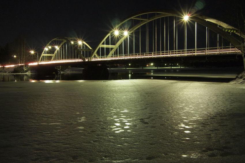 Architecture Bridge - Man Made Structure City Illuminated Nature Night No People Outdoors Sea Sky Water